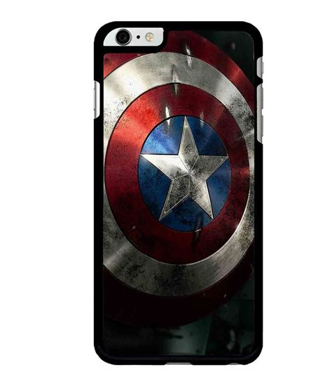 Captain America Shield Iphone 6 Cover caseque captain america shield back cover for apple iphone 6 plus printed back covers
