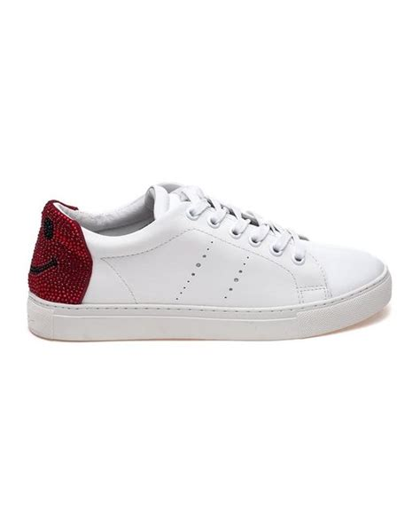lola sneakers lola 238z10bk white lace up sneakers in white lyst