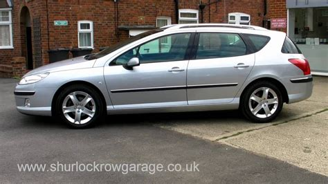 peugeot 407 wagon peugeot 407sw 2 0 hdi sport estate for sale youtube