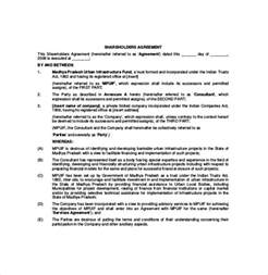 shareholder agreement template shareholder agreement template 8 free word pdf