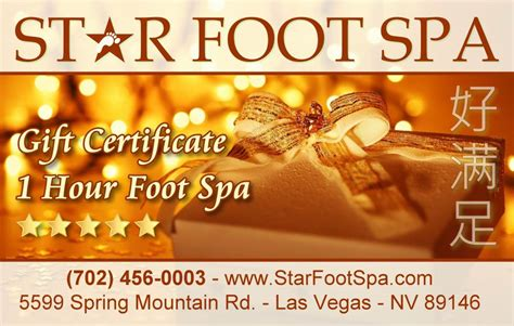 We Buy Gift Cards Las Vegas - gift cards are back star foot spa las vegas largest foot spa center