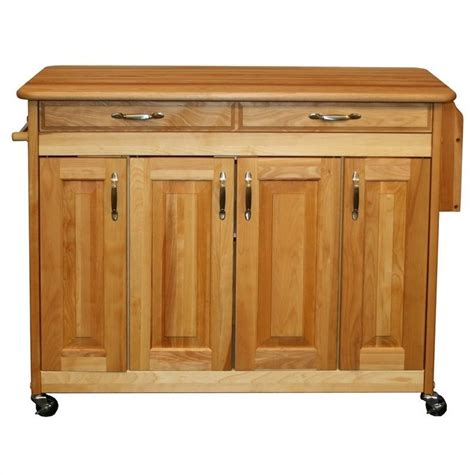 catskill craftsman butcher block kitchen island with towel catskill craftsmen 44 inch butcher block kitchen island
