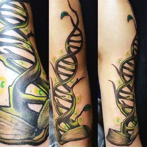 dna tree tattoo top 100 best science tattoos for manly design ideas