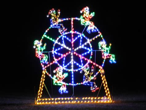 christmas ferris wheel lawn decoration