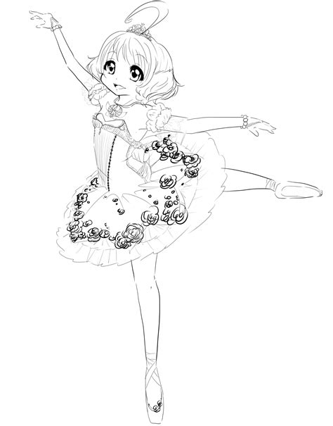ballerina tutu coloring page princess tutu lineart by sugarmimika on deviantart