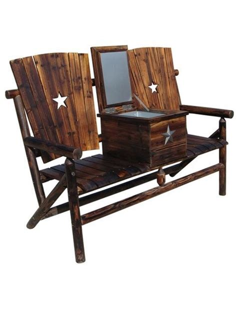 texas star bench texas western furniture wagon wheel furniture