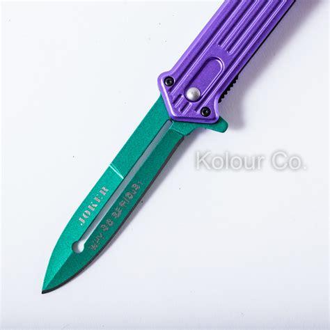 Pisau Joker 8 Assisted Open Blade Stiletto Folding Pocket Knif 8 quot joker assisted stiletto folding pocket knife blade batman switch ebay
