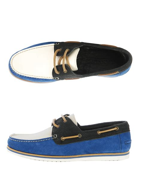 lanvin loafers lanvin deck shoe loafers in blue for lyst