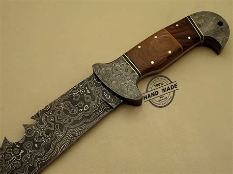 Damascus Steel Kitchen Knives Damascus Bowie Knife Custom Handmade Damascus Steel