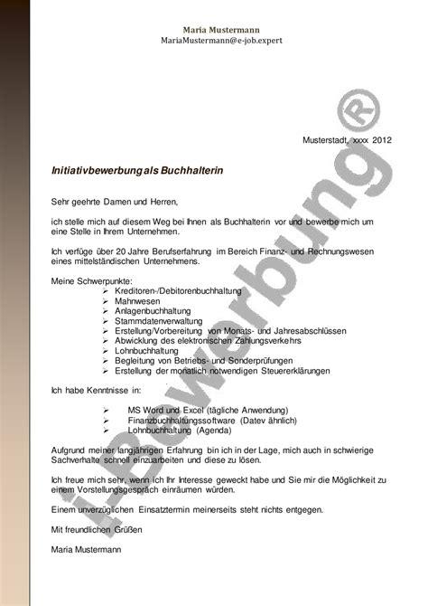 Initiativbewerbung Anschreiben Muster Pdf Initiativbewerbung Als Buchhalterin Muster Anschreiben