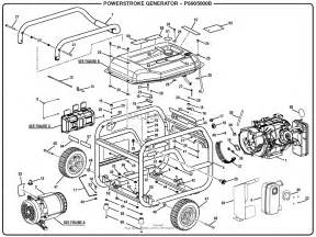 homelite ps905000b powerstroke 5 000 watt generator parts diagram for general assembly a