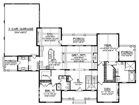 ranch open floor plan floor plans house