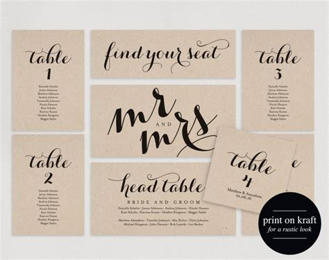 Search Results For Wedding Seating Chart Template Calendar 2015 Wedding Seating Place Cards Template