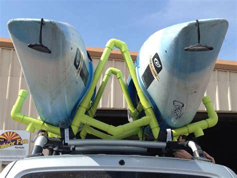 Kayak Carrier No Roof Rack by Pvc Kayak Roof Rack Carrier