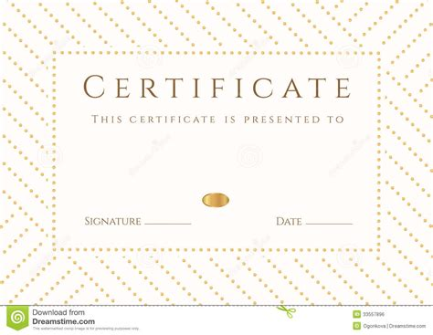 White Sertifikat certificate diploma template gold award pattern royalty