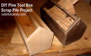 how to make a simple wooden tool box scrap pile project