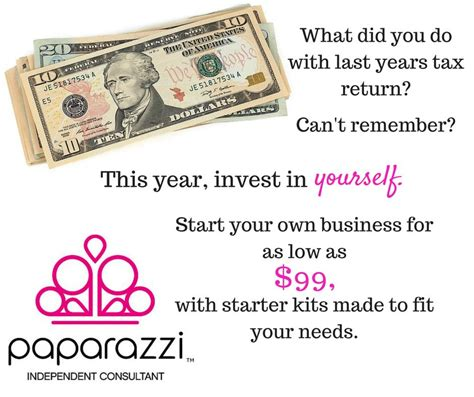 use your tax return to start a business at home paparazzi5vegasbling put your tax return to work