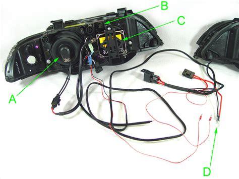 bmw e39 headlight wiring diagram 1997 2003 bmw 5 series e39 depo projector v3 f30 style led