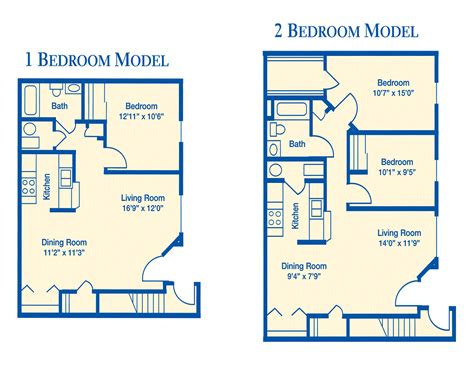apt floor plans apartment floor plan 1 bedroom and 2 bedroom pictures 05