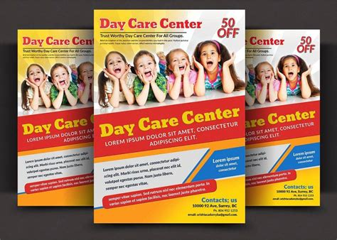 daycare flyers templates free 14 child care flyer designs exles psd ai