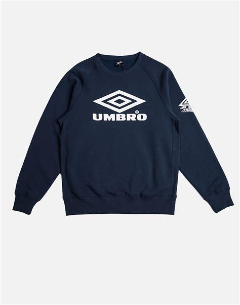 Jaket Hoodie Sweater Nicce Navy lyst umbro classic crew sweatshirt navy in blue for