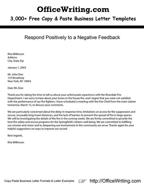 respond positively to a negative feedback check our