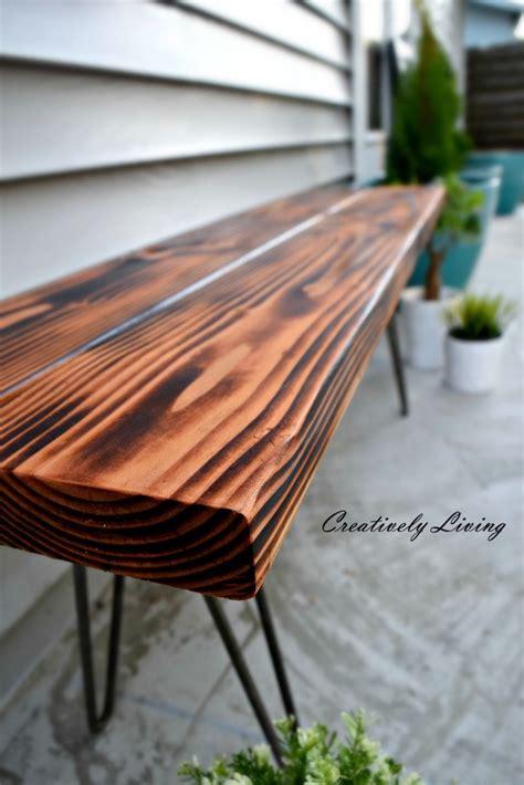 hairpin leg bench kit diy hairpin leg wooden bench creatively living