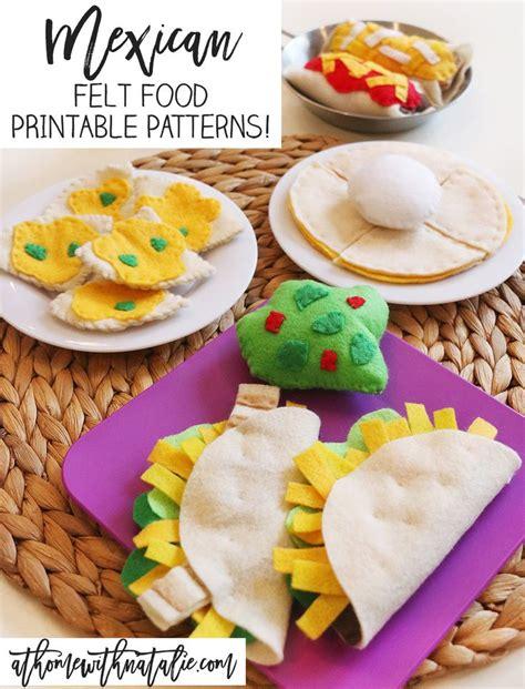 mexican food kids best 25 felt food patterns ideas on pinterest felt play