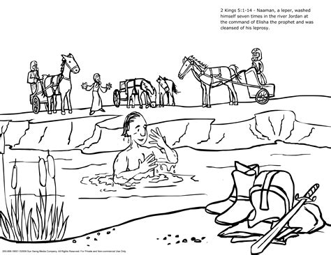 free bible coloring pages naaman naaman and the servant coloring pages naaman the