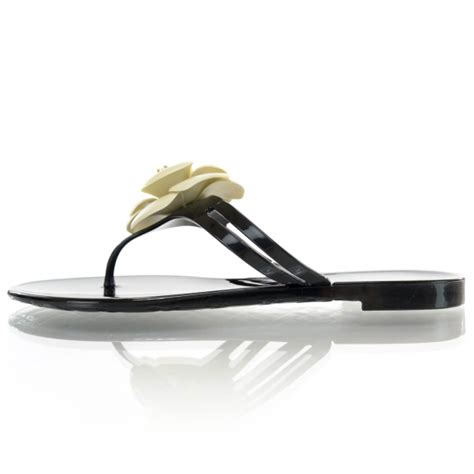 Chanel Clucth Jelly chanel jelly camellia sandals 37 black ivory 38027