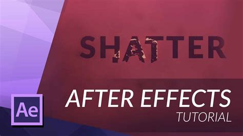 tutorial after effect title how to create a shattered title in after effects