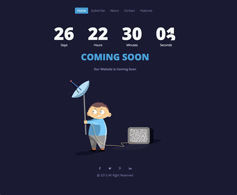 43 cool html coming soon templates web graphic design