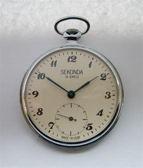 vintage 1960s sekonda stemwinding pocket 308256