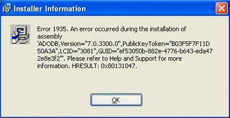 Error 1935 Office by How To Resolve Microsoft Office 2010 Error 1935