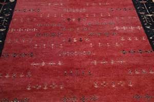 rugsville gabbeh tribal black wool rug 13206