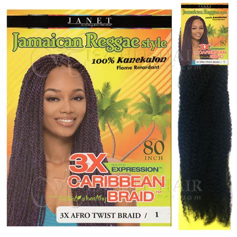 janet collection caribbean hair janet collection afrelle 3x braid kanekalon natural hair