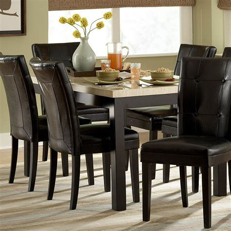 homelegance 3270 60 archstone faux marble dining table
