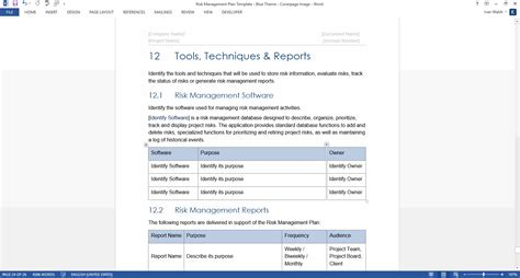 Risk Management Plan Template It Management Plan Template