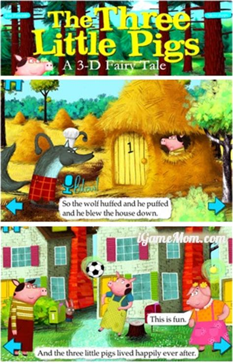 Zoetoys 3d Book Three Pig app went free the three pigs from nosy