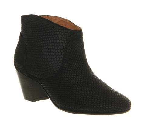 womens h boots womens h by hudson mirar heeled ankle boot black snake