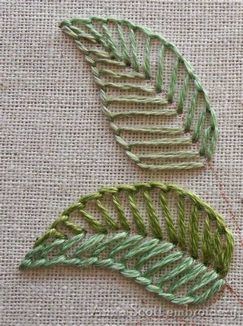 embroidery leaves blanket stitch leaves part one needleart