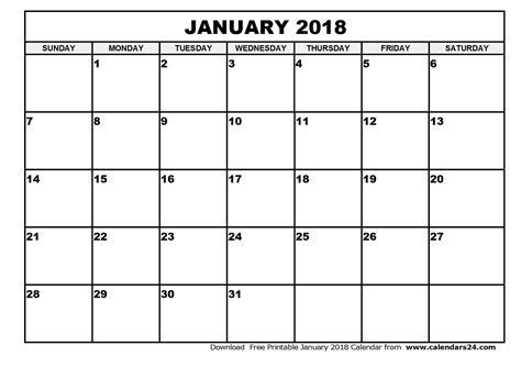 january calendar template january 2018 calendar canada monthly printable calendar