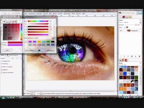 gimp tutorial mac deutsch gimp tutorial deutsch augen einf 228 rben youtube