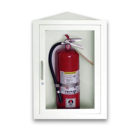surface mount extinguisher cabinets jl corner vu 8813g10 steel surface mounted 10 lbs