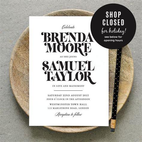 invitation design typography pre order for jan 4 printable wedding invitation pdf