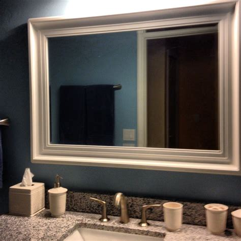 framing bathroom wall mirror white framed bathroom mirrors