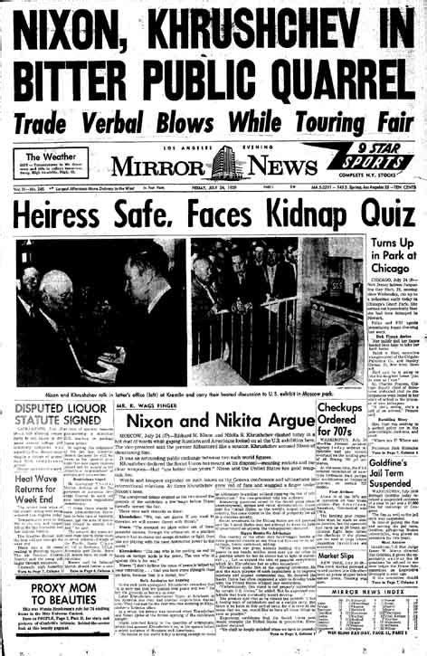 Kitchen Debate Between Nixon And Khrushchev by July 24 1959 Nixon Khrushchev Kitchen Debate