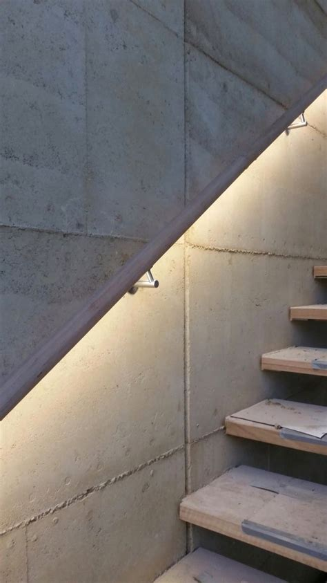 led stair lights timber led handrail illuminated with the forrest range by