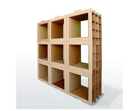 librero reciclado de carton apuntes revista digital de arquitectura muebles de