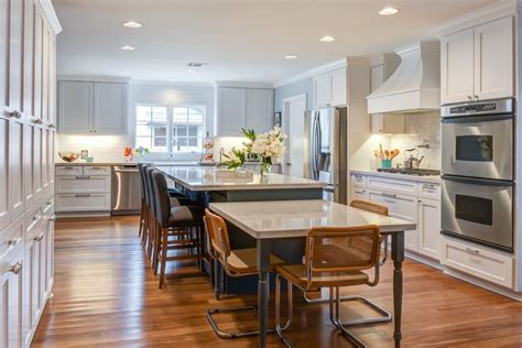 kitchen island with attached table table attached to island kitchen contemporary with